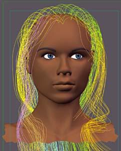 Жанна Д'арк. Создание реалистичных волос.