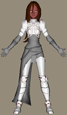 Жанна Д'арк. Создание скелета.