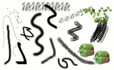 Пример использования кистей
