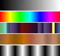 Несколько примеров градиентов в GIMP